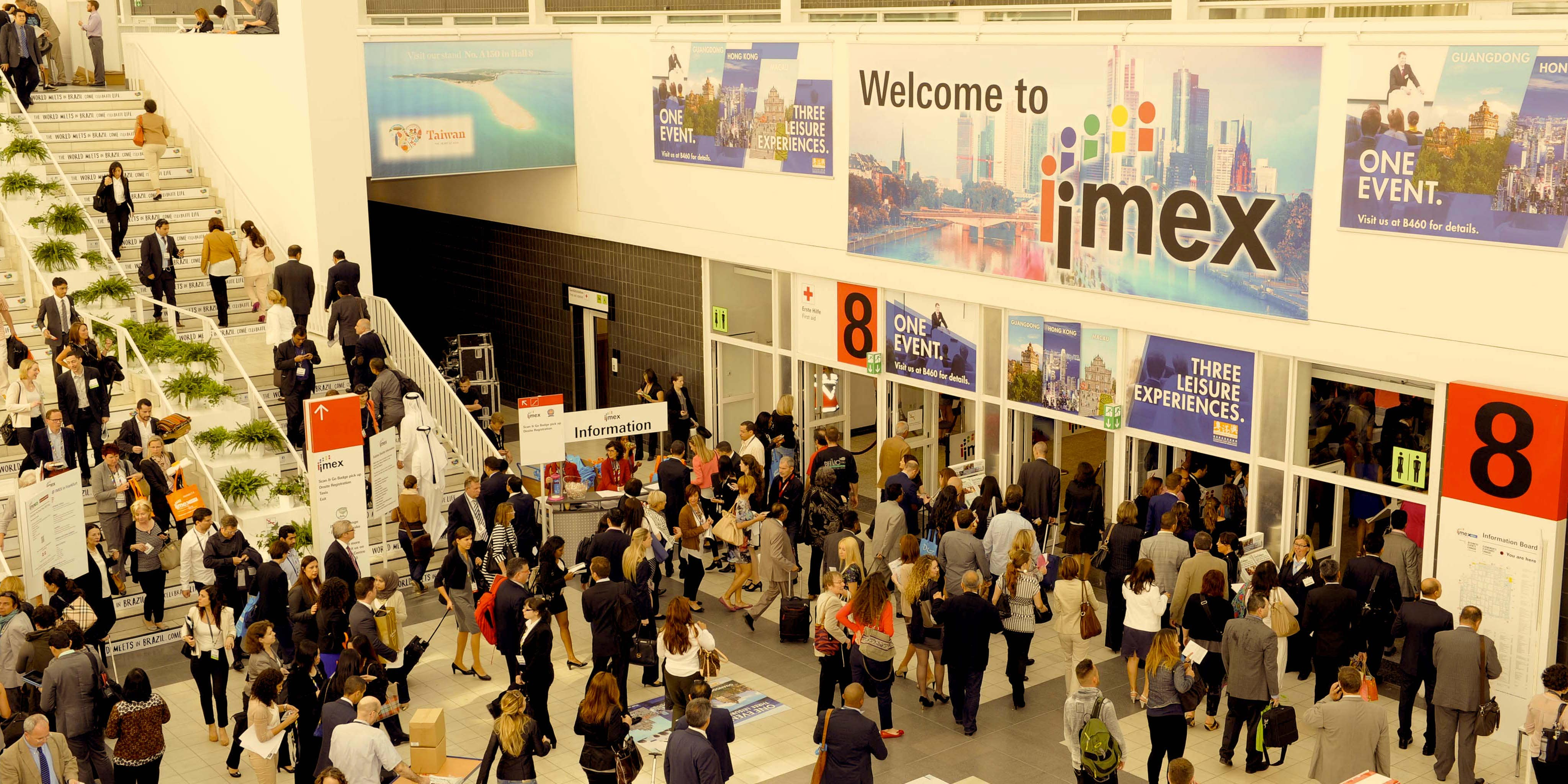 IMEX uses Banners with strategic placement.