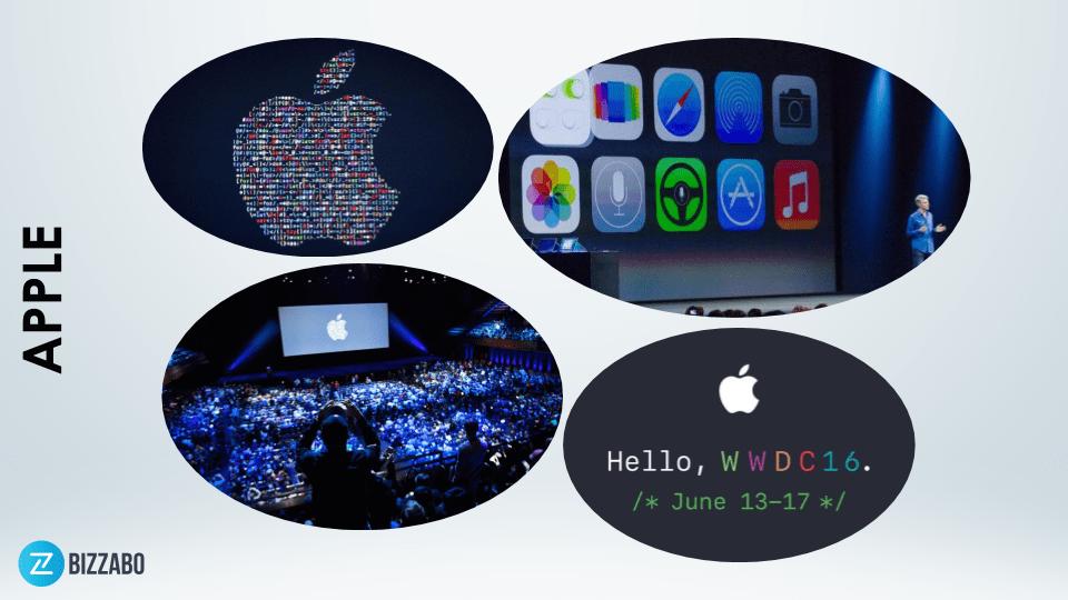 Apple event branding in action.