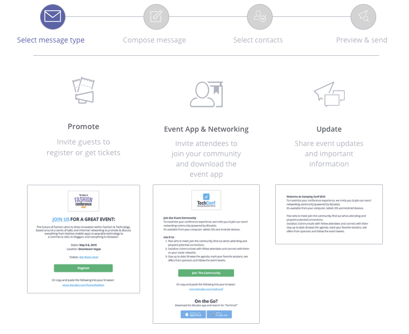 Bizzabo's event email templates enable you to work 10x faster.