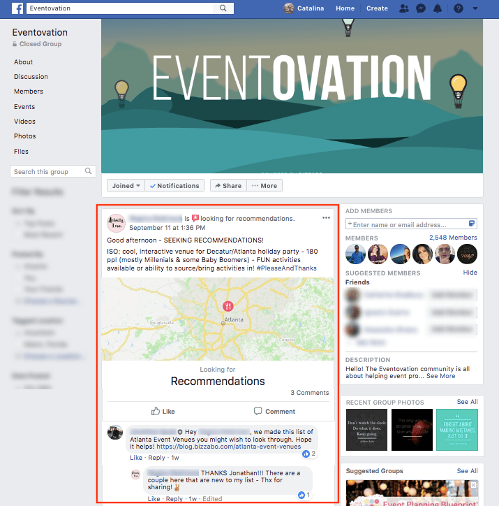 Eventovation Event Planners Facebook Community