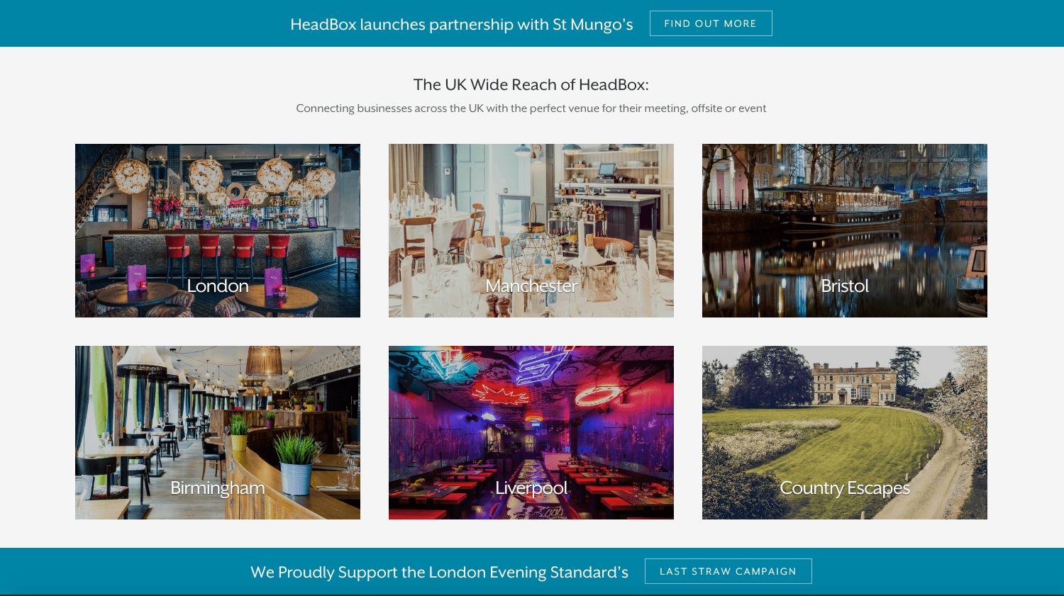 Find Event Venues with HeadBox