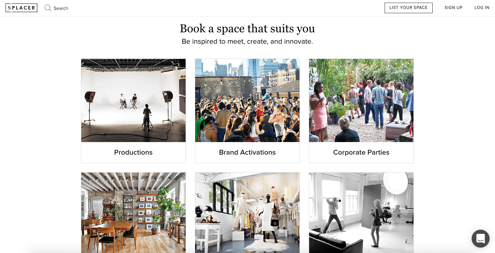 Find Event Venues with Splacer