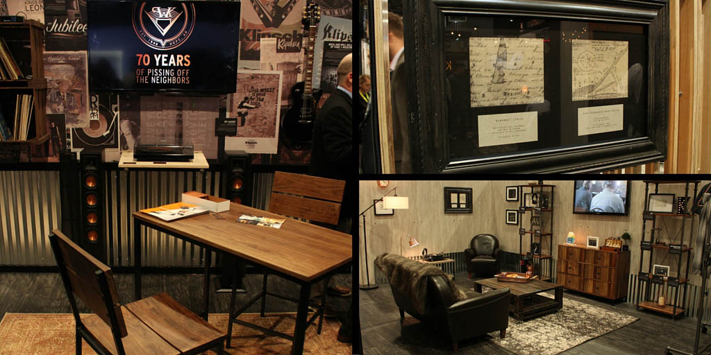 Klipsch created a basement from a booth. What could you do?