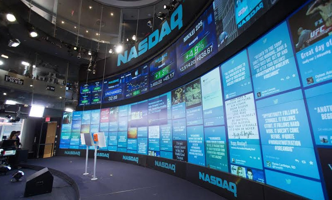 TINT Twitter Social Wall at NASDAQ
