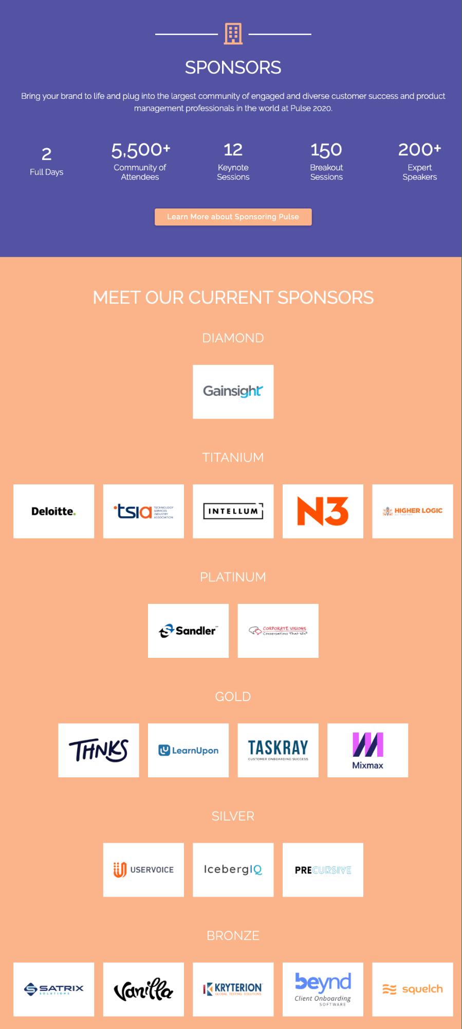 Pulse 2020 sponsors-event sponsorship guide