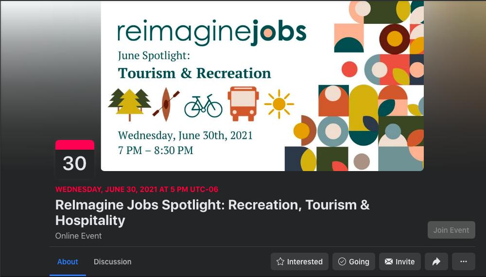 Reimagine jobs example - Facebook Event Promotion