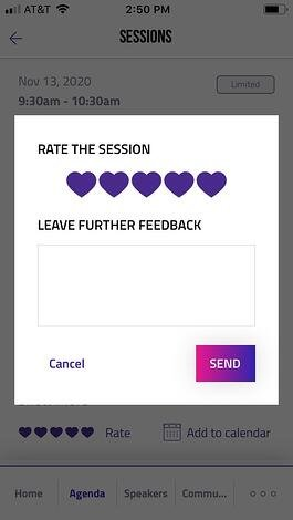 Session Rating - Audience Engagement