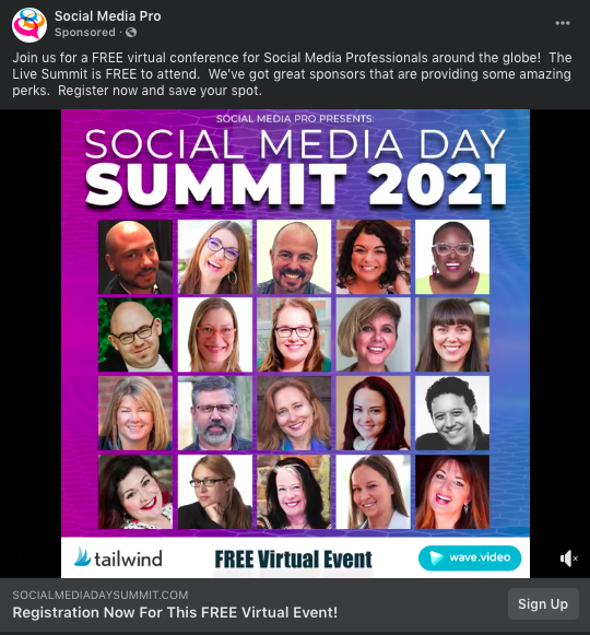Social media day summit example - Facebook Event Promotion
