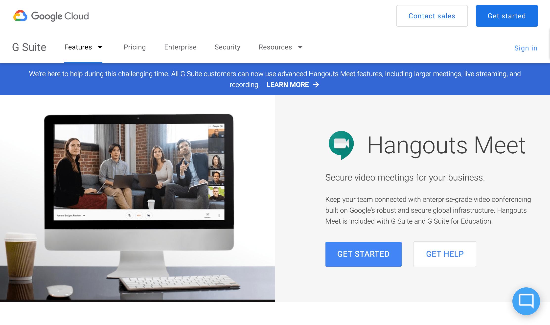 Google Hangouts  - Virtual event tools