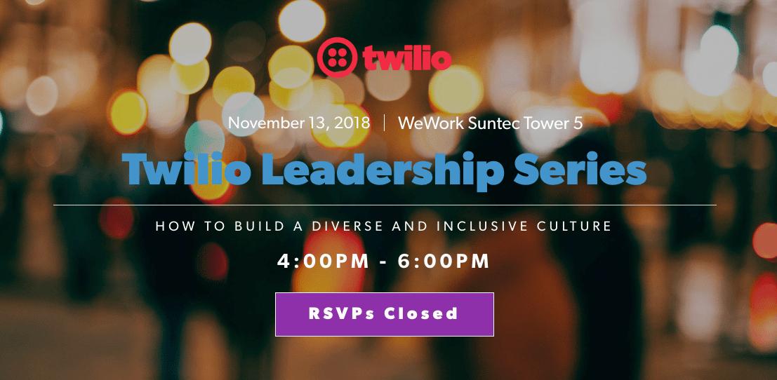 Twilio Leadership Series - Twilio Event Marketing