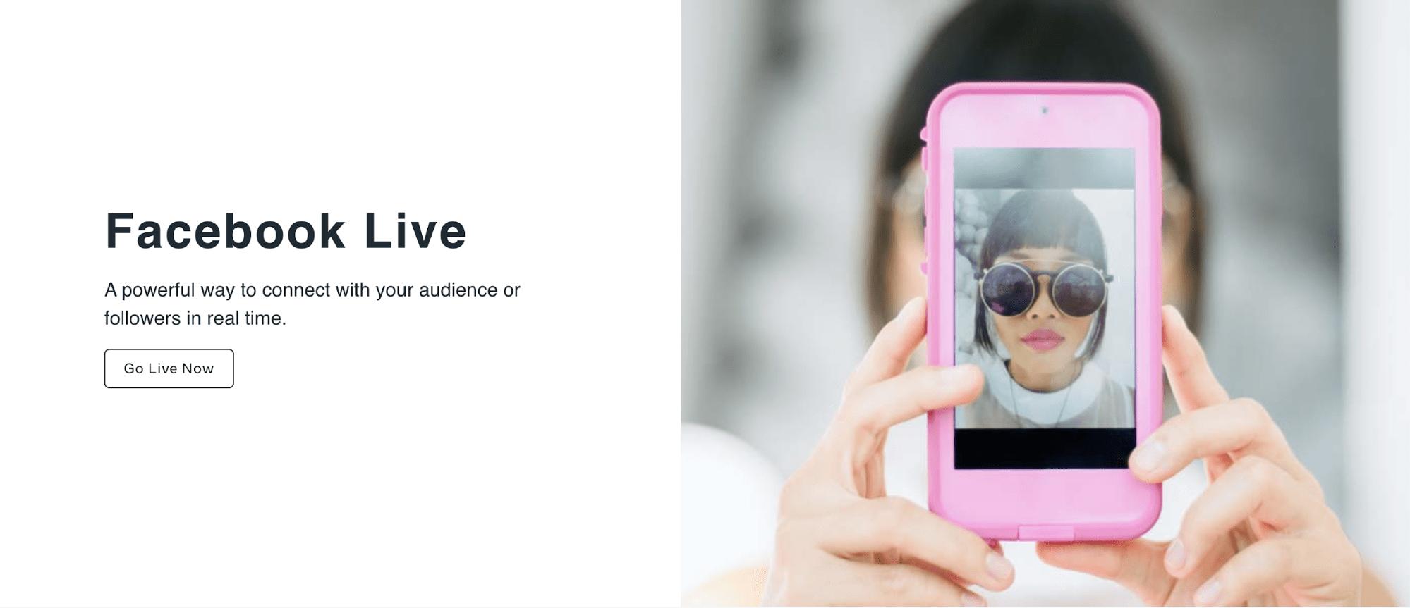 Facebook Live - Virtual event tools