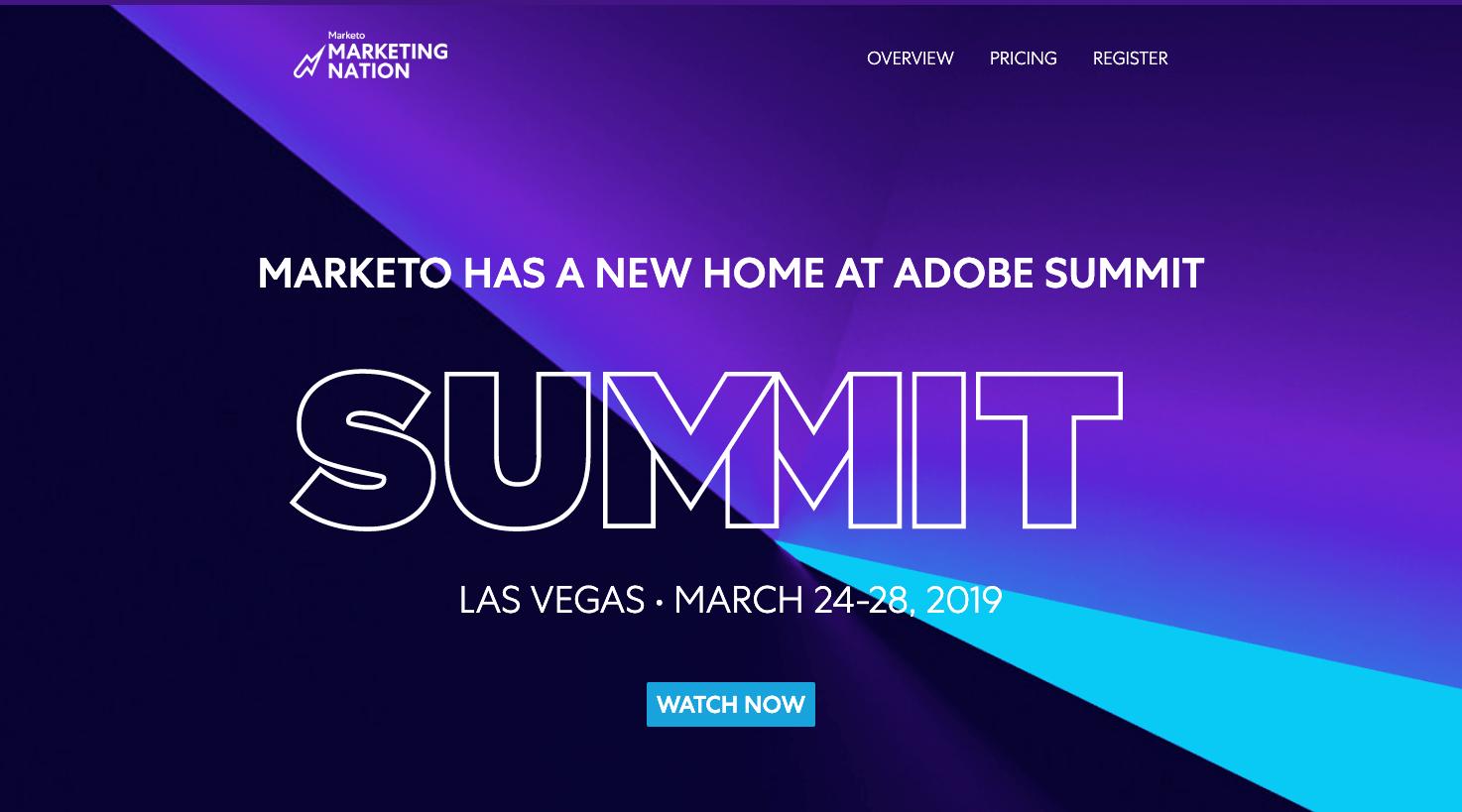 Marketo Summit Example - Event Marketing Guide 2020