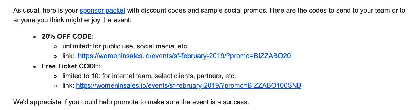 CloserIQ - Event Promo Codes