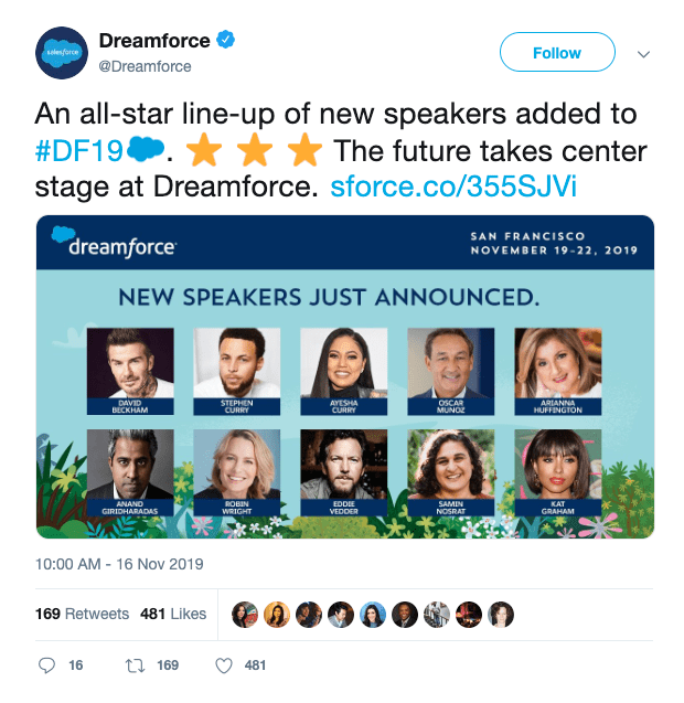 Dreamforce local speakers - Event Roadshow Guide