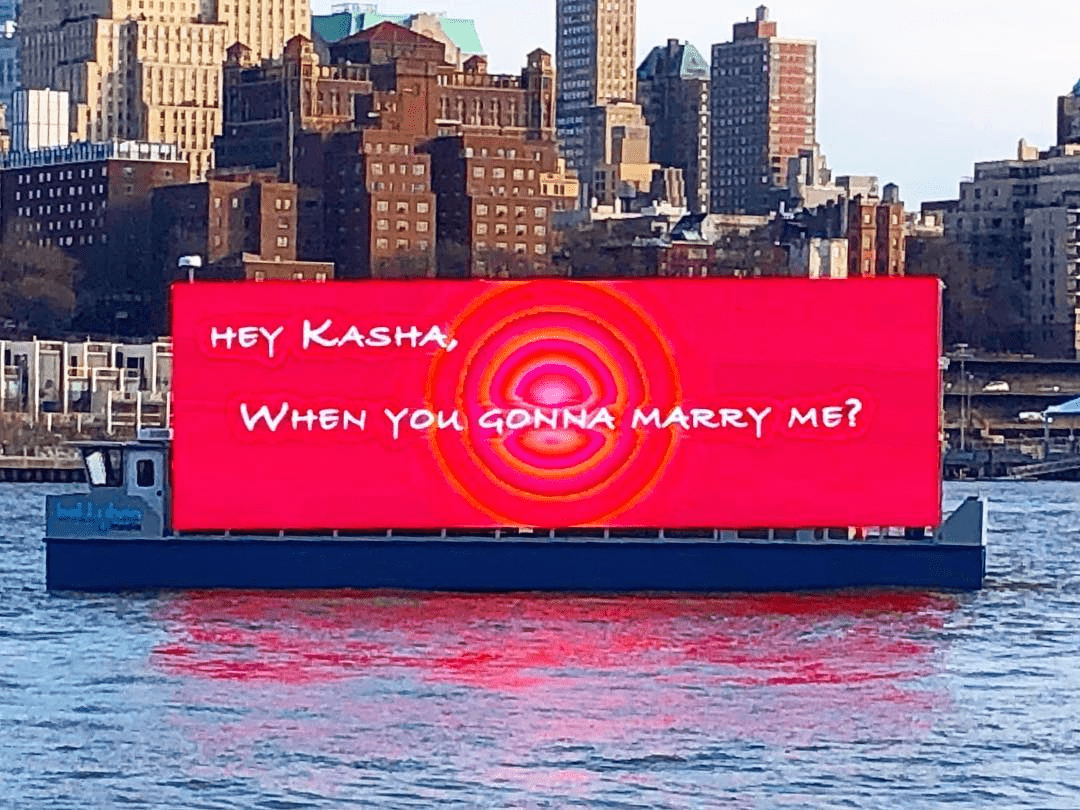 Floating Billboards - Guerilla Marketing Examples