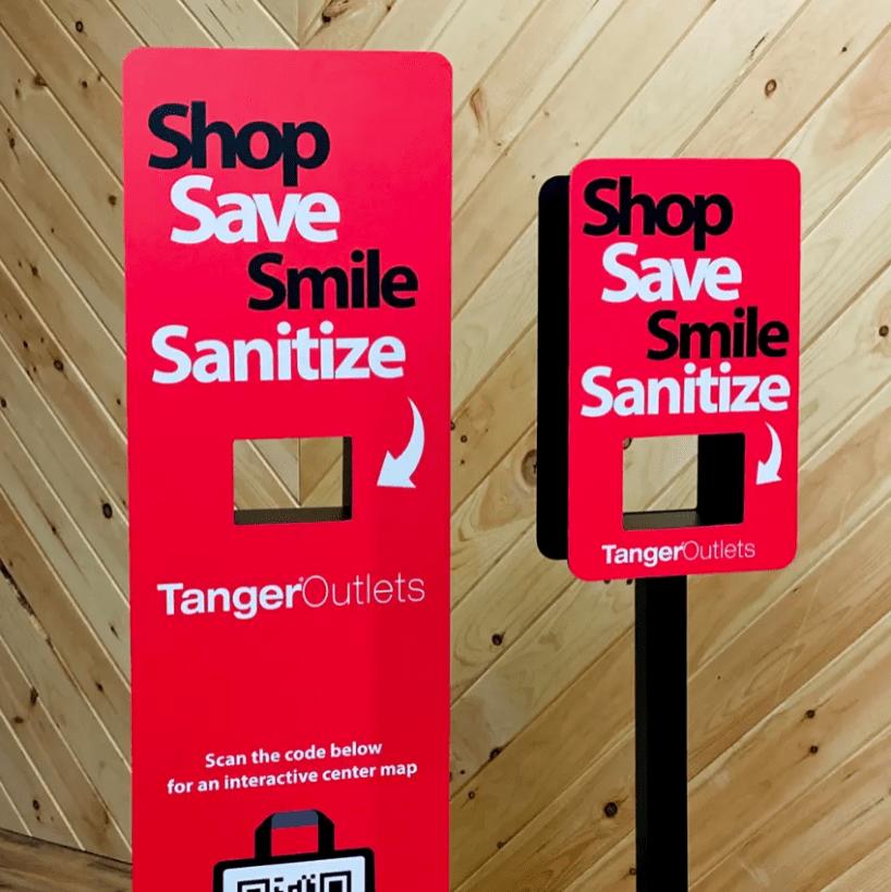 returning to inperson events safely-branded hand sanitizer