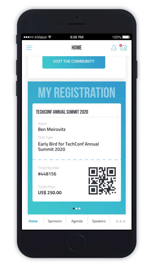 returning to in-person events safely - phone check in